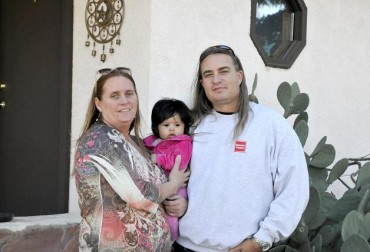 Damien and Anne Browning, with baby Ava Serenity, run a rehab center in Old Town Cottonwood. Steps to Recovery Homes has both men's and women's centers, and helps recovering addicts get back on their feet.